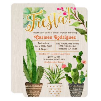 ANY EVENT - Fiesta Succulent Cactus Invitation