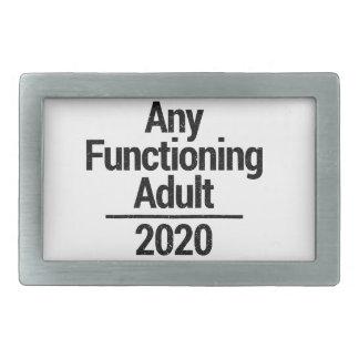 Any Functioning Adult 2020 Rectangular Belt Buckle