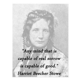 Any Mind - Harriet Beecher Stowe Postcard