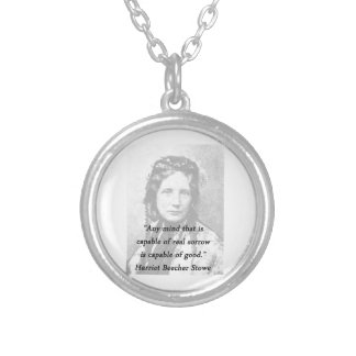 Any Mind - Harriet Beecher Stowe Silver Plated Necklace