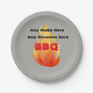 Any Name, Any Occasion, BBQ - Paper Plate