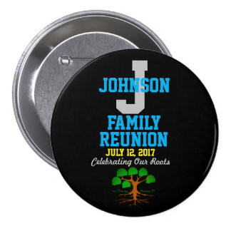 Any Name Family Reunion with Any Date - 7.5 Cm Round Badge