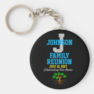 Any Name Family Reunion with Any Date - Basic Round Button Key Ring