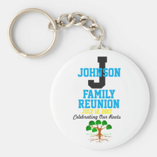 Any Name Family Reunion with Any Date - Key Ring