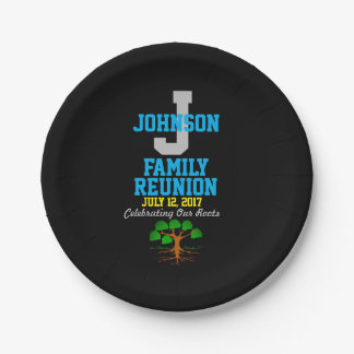 Any Name Family Reunion with Any Date - Paper Plate
