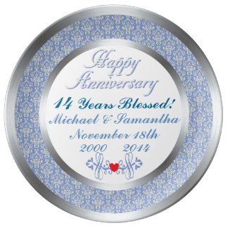 ANY Number Personalized Anniversary Plate Porcelain Plates