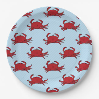 Any occasion Crab Fest change color Paper Plate