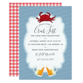 Any occasion Crab Fest Party Invitation