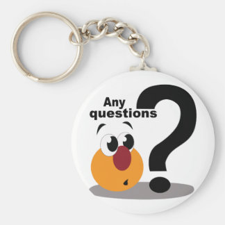 Any Questions Keychain