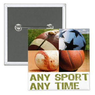 Any Sport Any Time 15 Cm Square Badge
