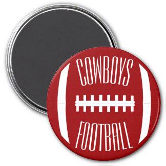 Any Team Color & Custom Text Football Sport Coach Magnet
