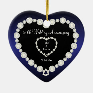 Any Wedding Anniversary   Sapphire Blue   DIY Text Ceramic Ornament