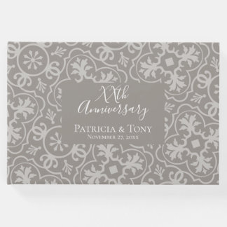Any Wedding Anniversary - tile pattern background Guest Book