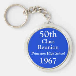 Any Year and Colors Cheap Class Reunion Gift Ideas Key Ring