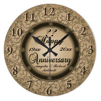 Any Year Anniversary Copper Clock