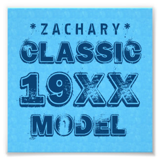 Any Year CLASSIC MODEL Grunge Text A05 Photo
