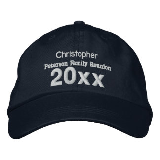 ANY YEAR Family Reunion Custom Name and Sentiment Embroidered Cap