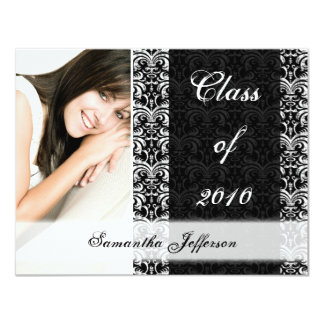 Any Year Graduation Announcement, Chic Black Card