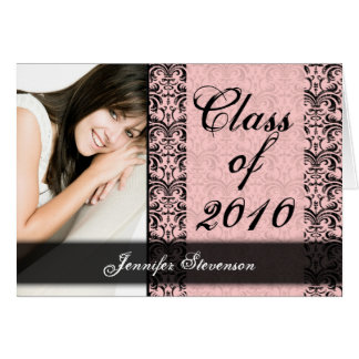 ANY YEAR Lacy Pink Graduation Card