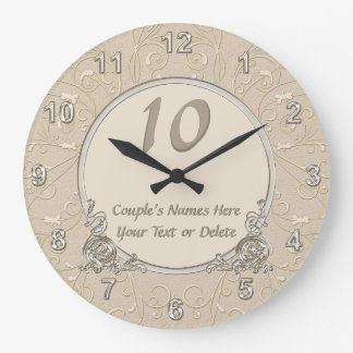 ANY YEAR Lovely Personalized Anniversary Clocks