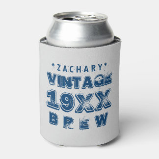 Any Year VINTAGE BREW Grunge Text A02 Can Cooler