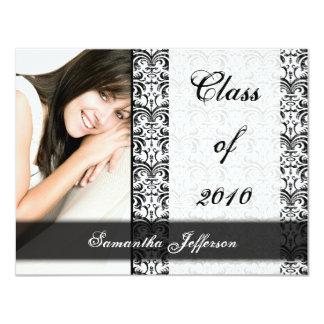 Any Year~ White Formal Design Photo Graduation 11 Cm X 14 Cm Invitation Card