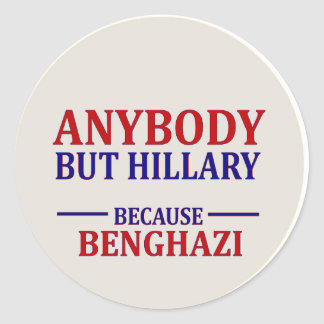 Anybody But Hillary Round Sticker
