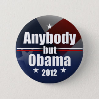 Anybody but Obama 2012 6 Cm Round Badge