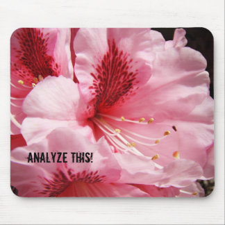 Anylyze This mouse pad Pink Rhodies Flowers