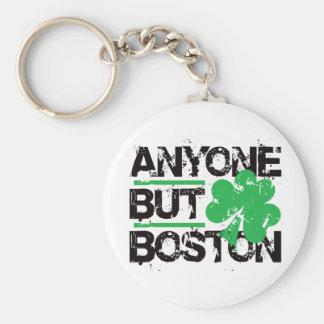 Anyone But Boston! Basic Round Button Key Ring
