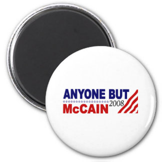 Anyone But Mccain 6 Cm Round Magnet