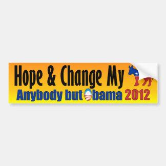 Anyone But Obama 2012 - Anti Obama Bumper Sticker