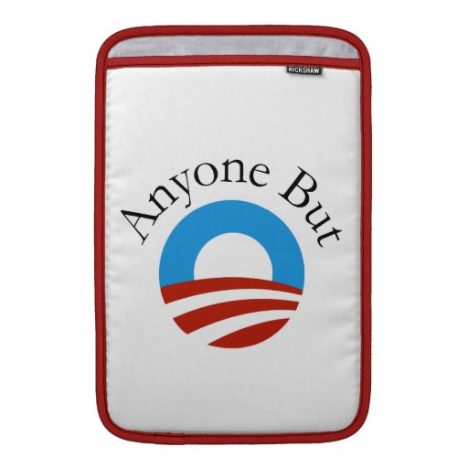 Anyone But Obama w/Logo Sleeves For MacBook Air
