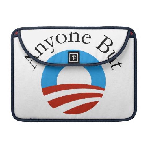 Anyone But Obama w/Logo Sleeve For MacBooks