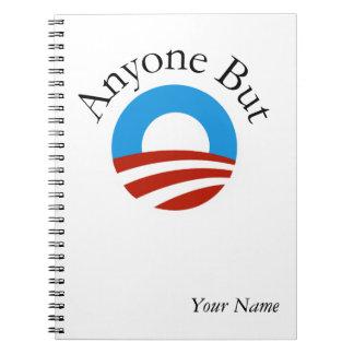 Anyone But Obama w/Logo Spiral Notebook