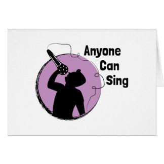 Anyone Can Sing Card