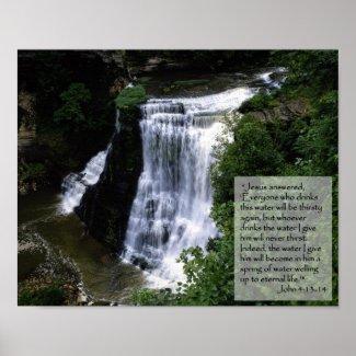 Christian Poster: John 4:13-14