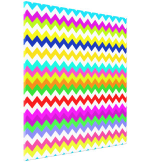 Anything But Gray With Chevron Gallery Wrap Canvas