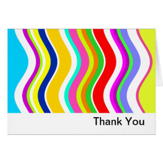 Anything But Gray With Curves Thank You Card