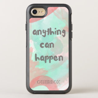 Anything Can Happen Watercolor Phone OtterBox Symmetry iPhone 8/7 Case