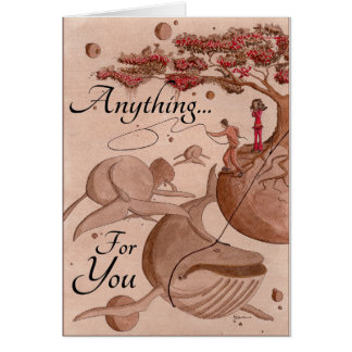Anything For You - Cherry Blossom -Catching Whales Card