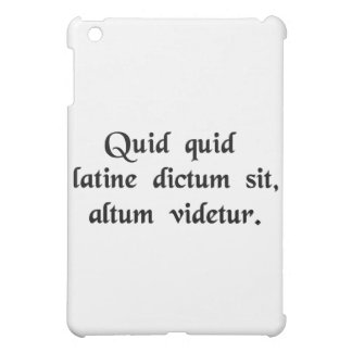 Anything said in Latin sounds profound. Cover For The iPad Mini