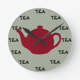 ANYTIME is Tea Time! Round Clock