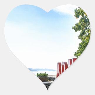 Ao Nang Sunset Beach Heart Sticker