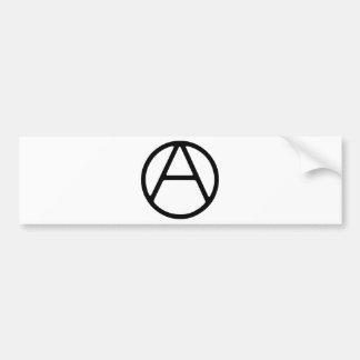 AO-OA Black Simple Monogram Bumper Sticker