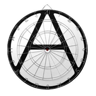 AO-OA Black Simple Monogram Dartboard