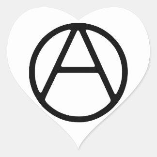 AO-OA Black Simple Monogram Heart Sticker