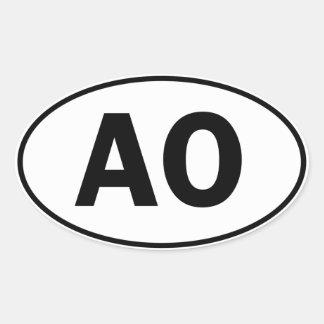 AO Oval ID Oval Sticker