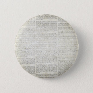 AOGG NEWSPAPER WORDS GRUNGE STORY BACKGROUNDS WALL 6 CM ROUND BADGE