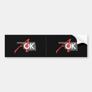 AOK Bumper Sticker 2 for 1